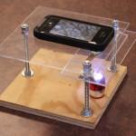 microscopio lente laser pointer