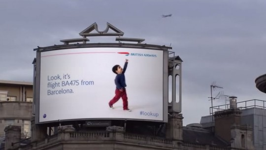 British Ariways Look Up Advert
