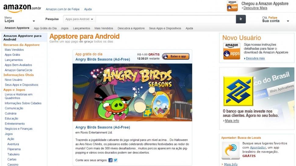 amazon appstore brasil