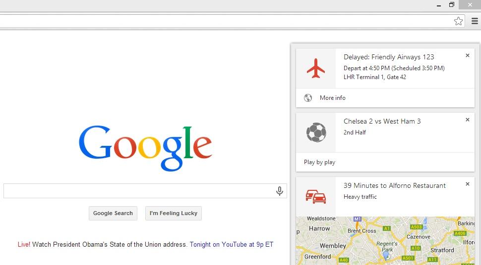 Google Now enfim chega ao desktop pelo Google Chrome