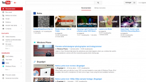 youtube novo visual