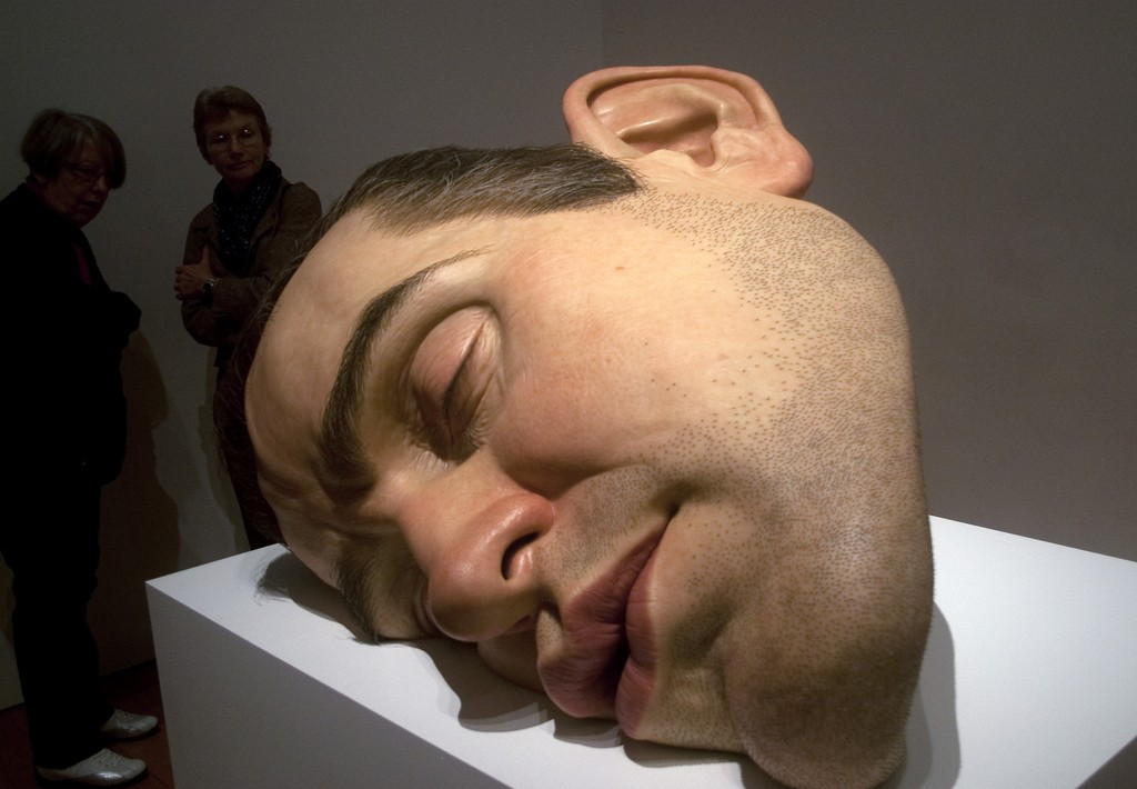Mask II - giant representation of Mueck's face
