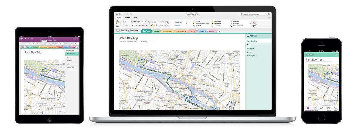 onenote iphone ipad mac