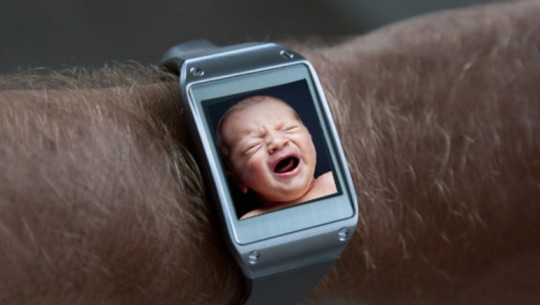 samsung galaxy gear crying baby