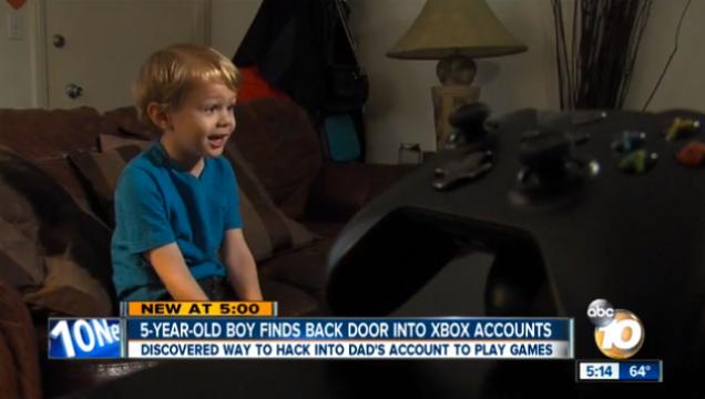Menino de 5 anos descobre falha de segurança no Xbox