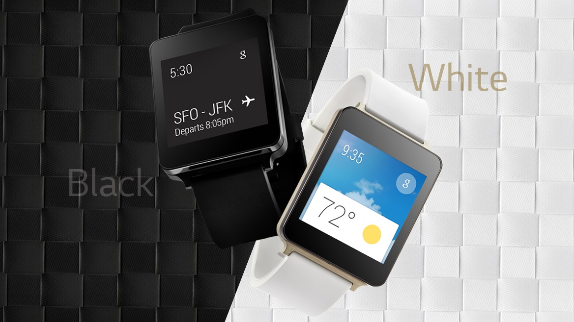 lg g watch black white