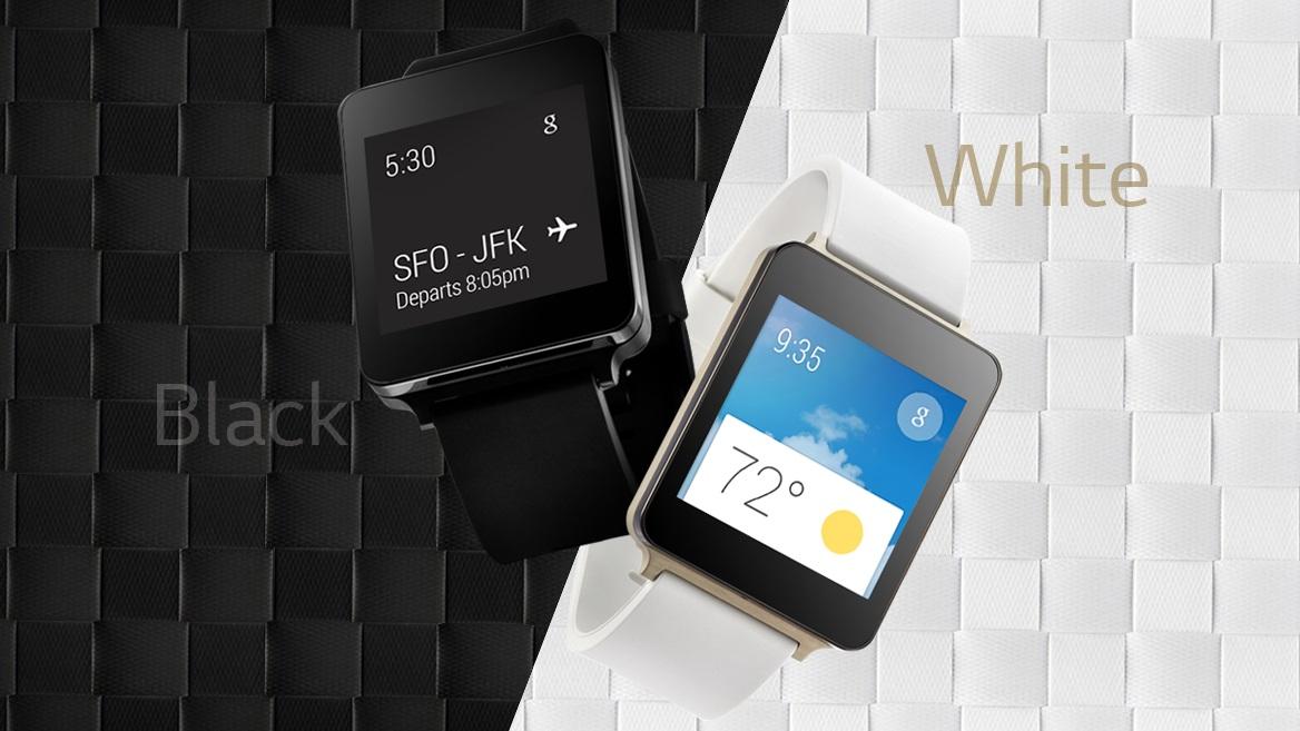 lg g watch black white