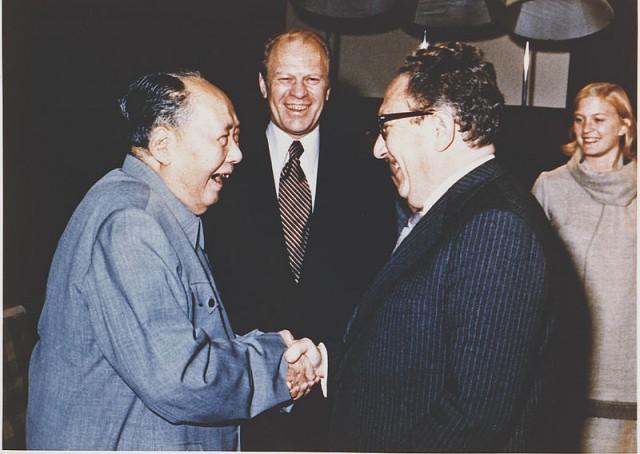 Henry Kissinger foi à China e fez novos amigos, como o líder comunista Mao Tsé-Tung (Foto: Arquivo de  Gerald Ford, ex-presidente dos EUA)