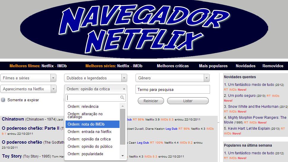 navegador netflix