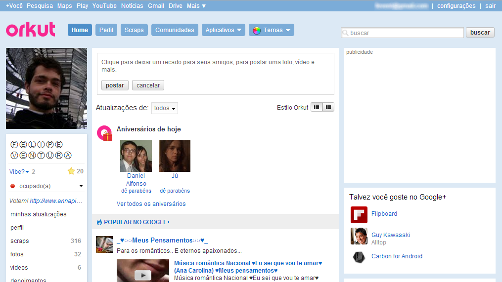 orkut fim