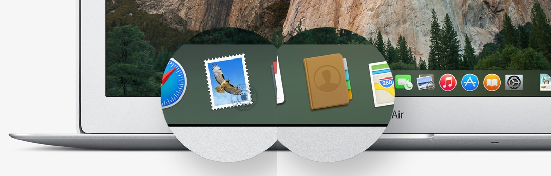 os x yosemite mail contacts