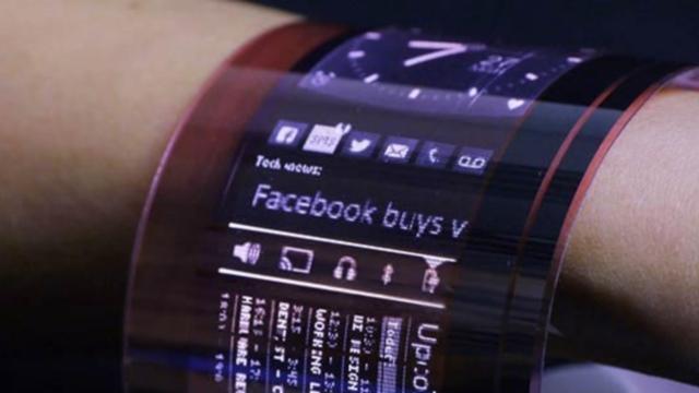 A primeira tela OLED flexível orgânica do mundo vai cobrir todo o seu pulso