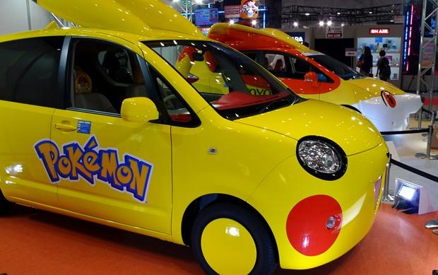 Eu só quero saber quando esse carro de Pokémon vai circular por aí!