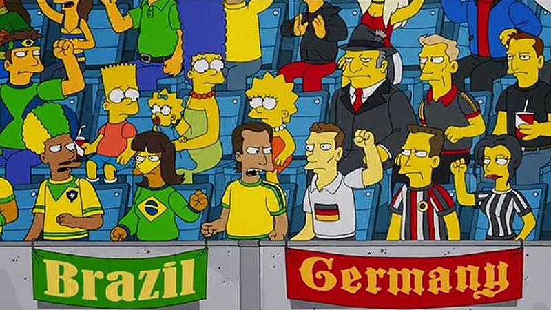 Os Simpsons previram a derrota do Brasil para a Alemanha, mas não sabiam que ia ser um massacre