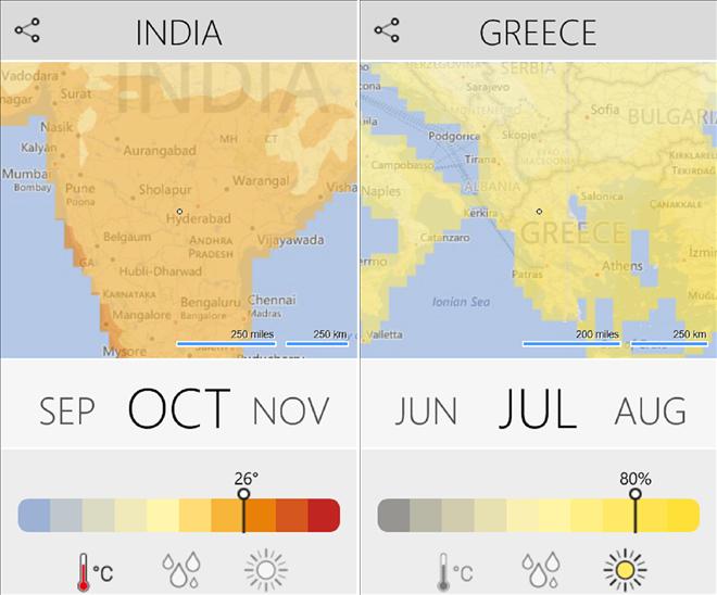 climatology windows phone