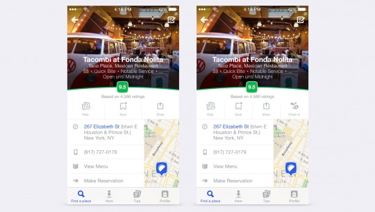 foursquare redesign