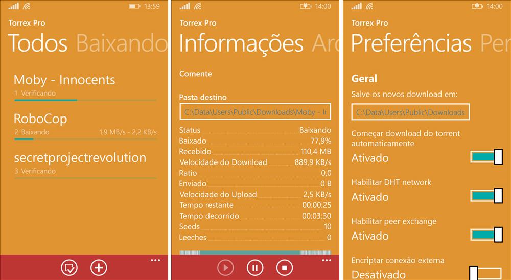 torrex pro windows phone
