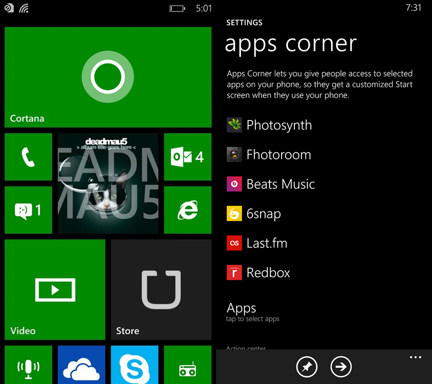 windows phone 8.1 gdr1 apps corner