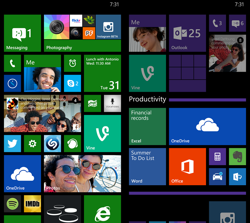 windows phone 8.1 gdr1 folders