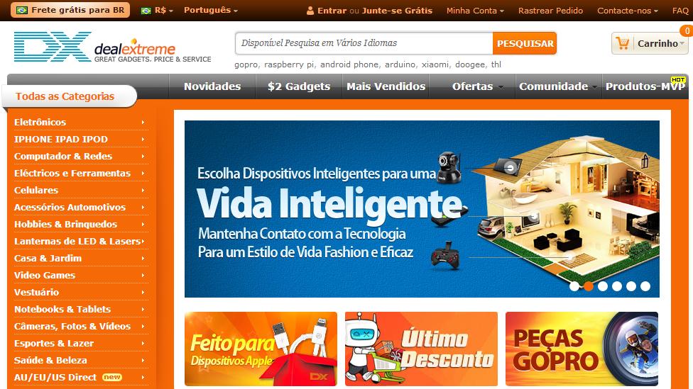 DealExtreme abre armazém no Brasil para você não pagar taxa de R$ 12 aos Correios
