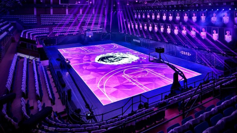 A primeira quadra de basquete LCD sensível ao toque do mundo é sensacional