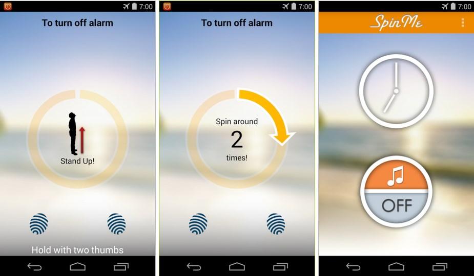 spinme clock alarm