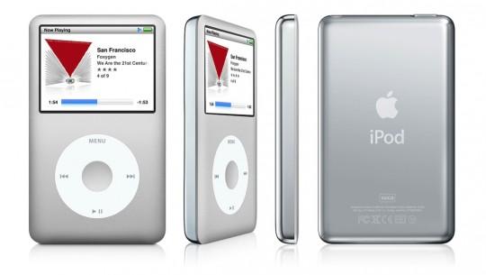 iPod Classic, de sexta geração, lançado em setembro de 2007. Ele trazia um corpo de alumínio anodizado, melhor resolução para vídeos, e estava disponível em versões de até 160GB (ainda em disco rígido padrão, não memória flash). Com a sua morte, a click wheel vai com ele, e é quase certo que ela não será incluída em novos modelos.