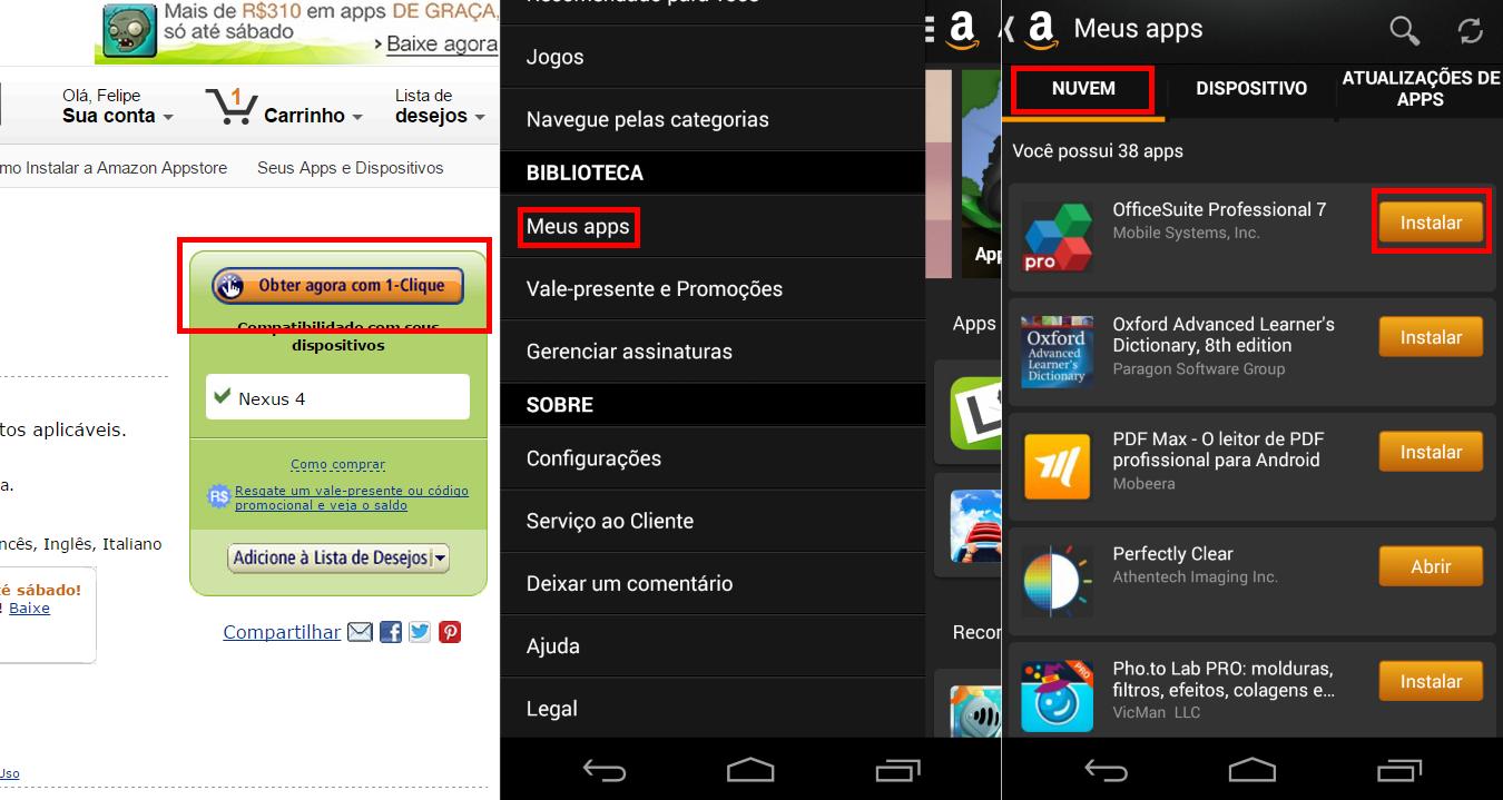 36 apps pagos para Android estão sendo distribuídos gratuitamente pela Amazon