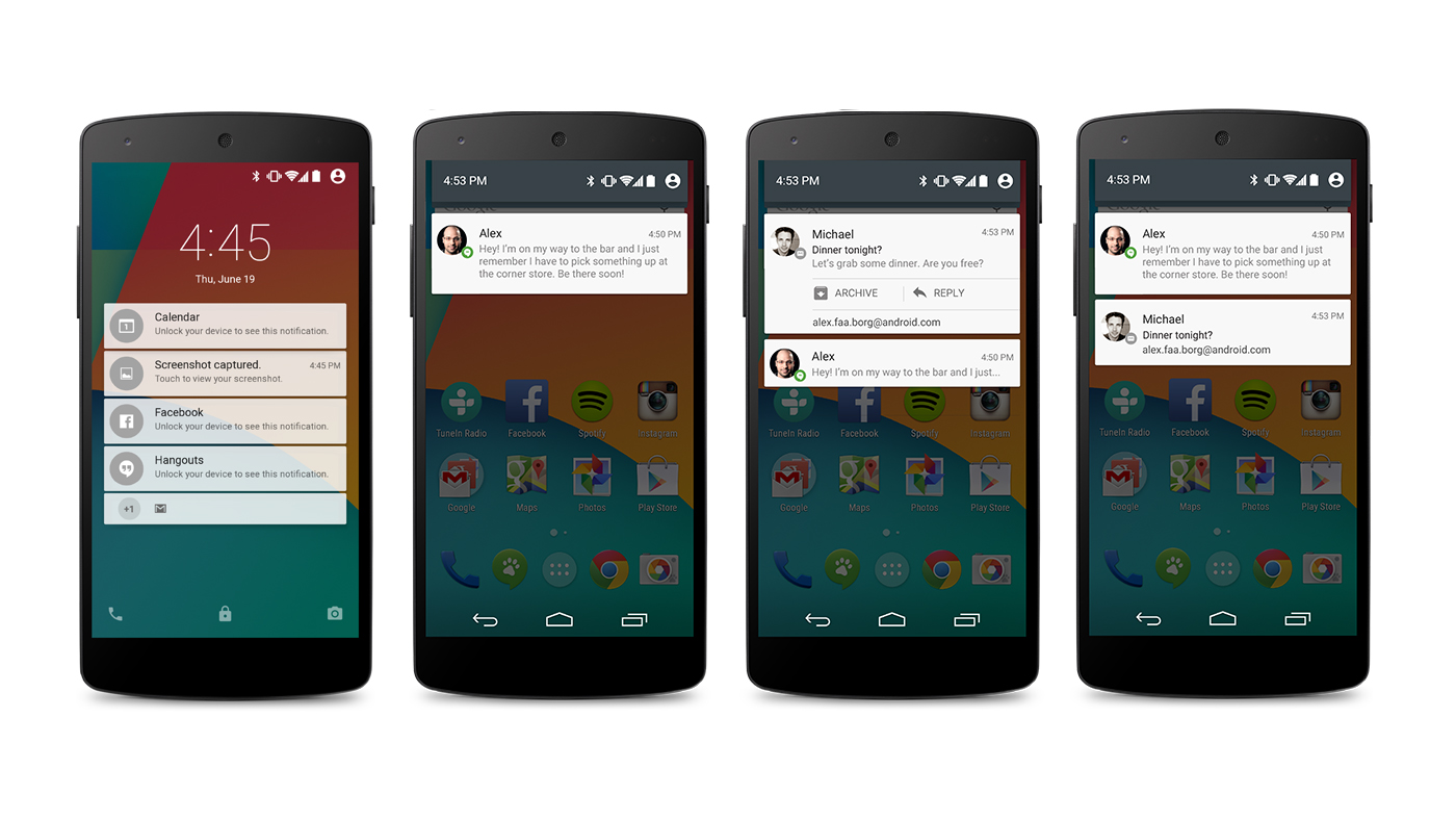 android lollipop notificacoes