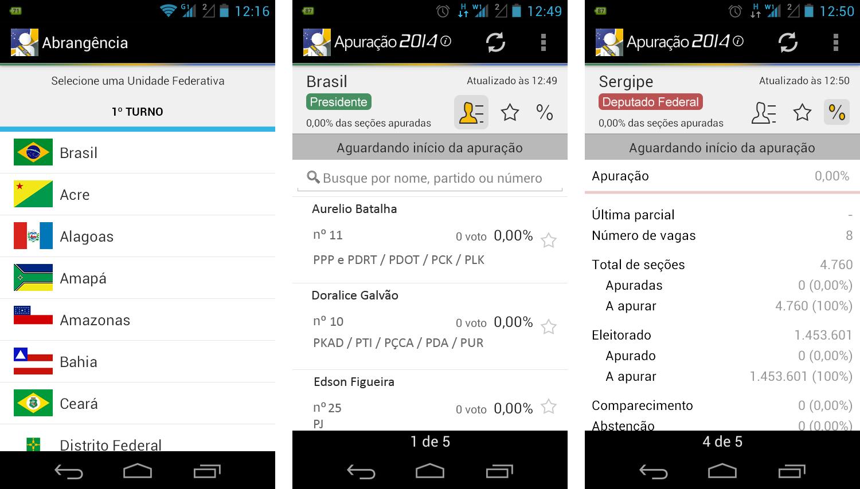 apuração eleições 2014 android