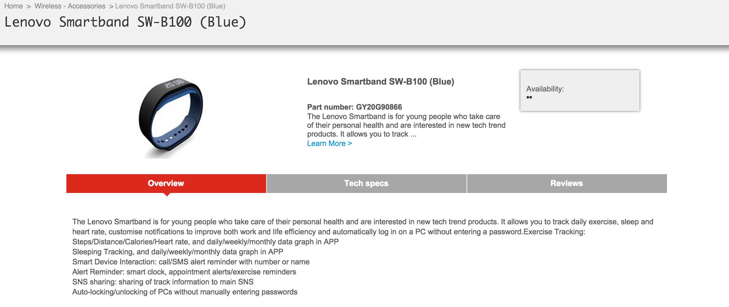 Lenovo Smartband