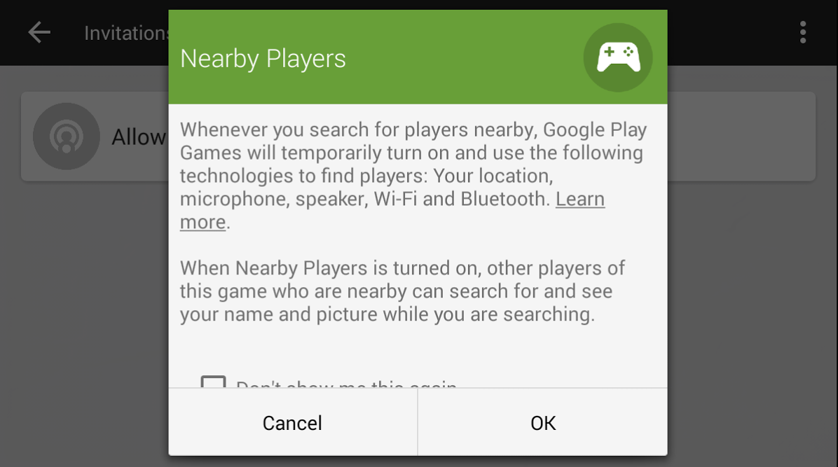 google play games nearby players