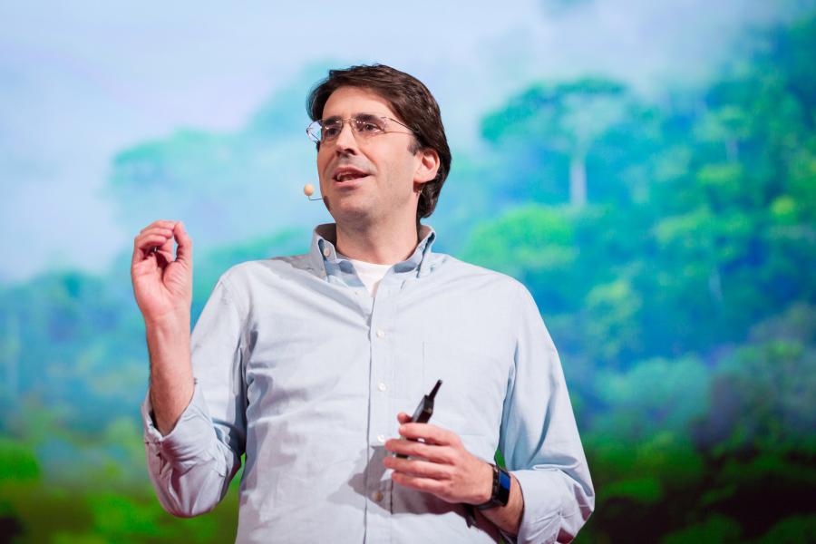 Tasso Azevedo durante o TED