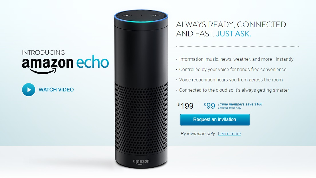 Amazon Echo - convite