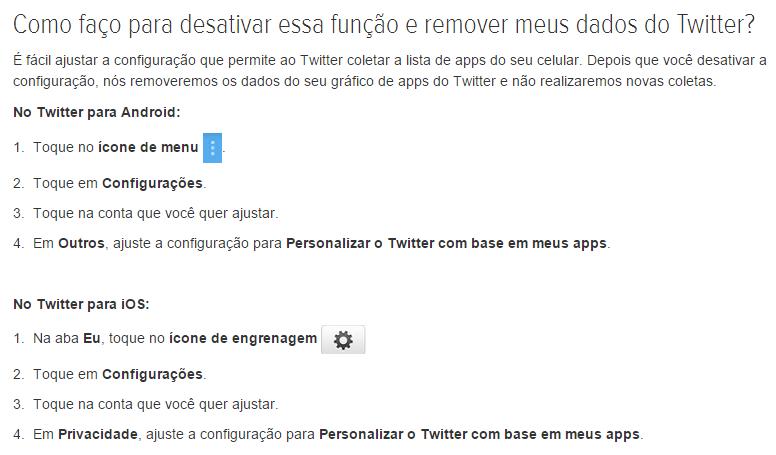 Como desativar monitoramento de apps no Twitter