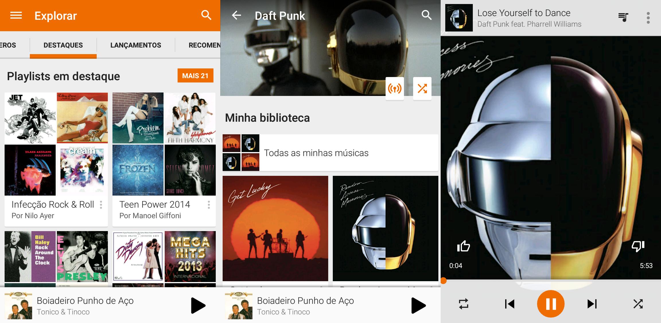 Google Play Música Acesso Ilimitado - Android