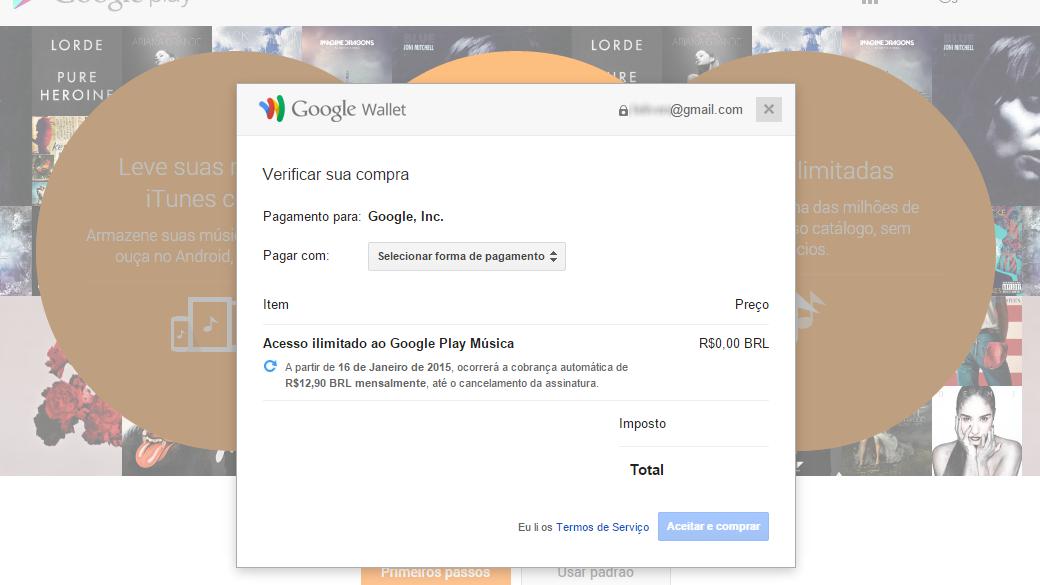 Google Play Música Acesso Ilimitado - Como assinar (3)