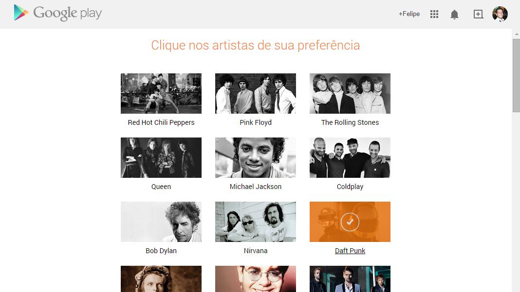 Google Play Música Acesso Ilimitado - Preferências