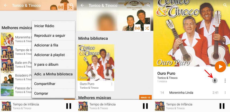 Google Play Música Acesso Ilimitado - Salvar música offline