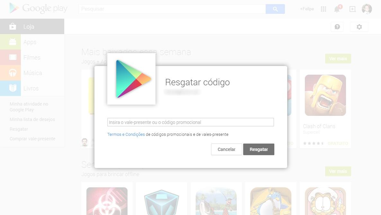 Google Play - vale-presente na web
