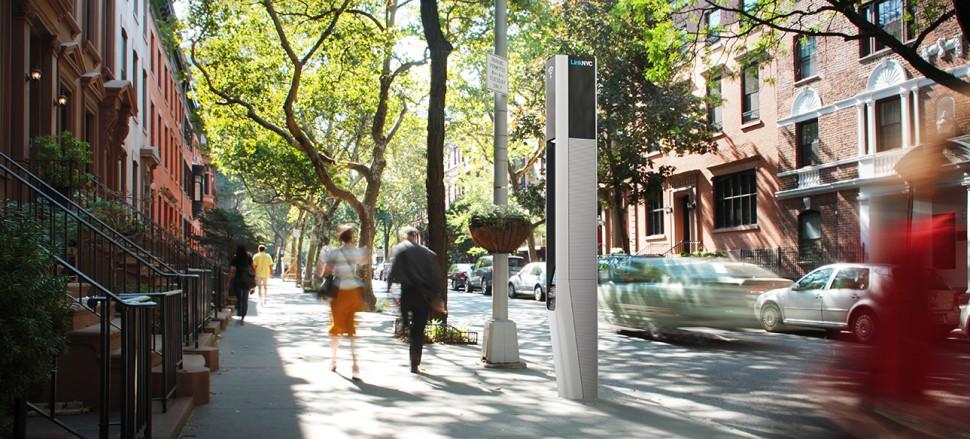 Link em rua de NY