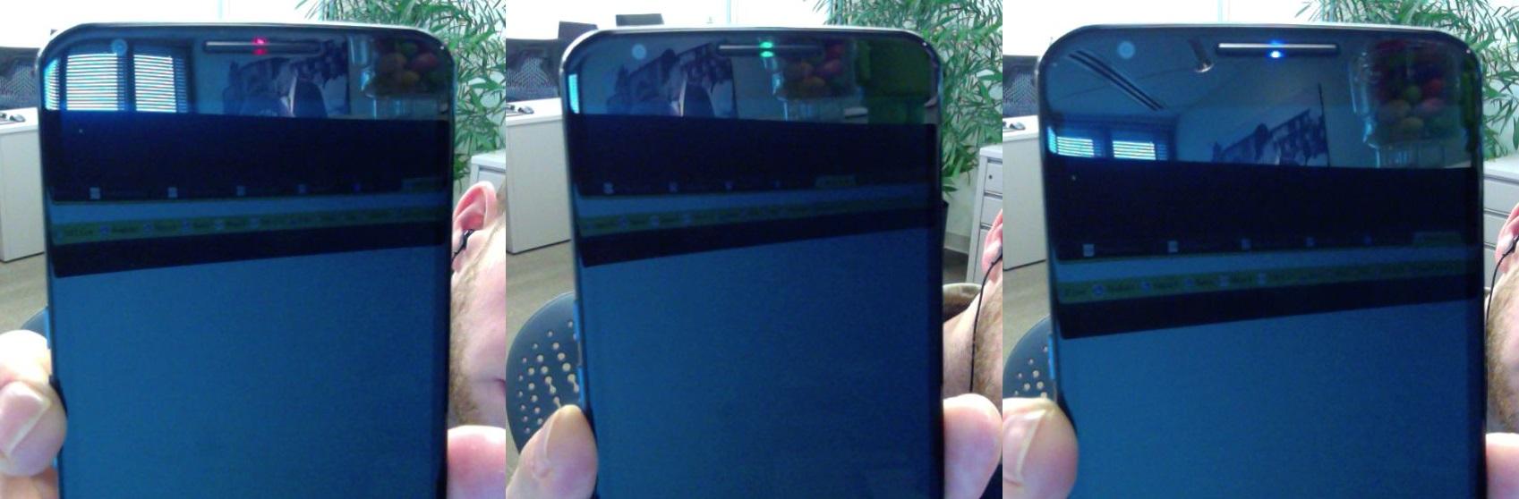 Nexus 6 e sua luz LED em três cores