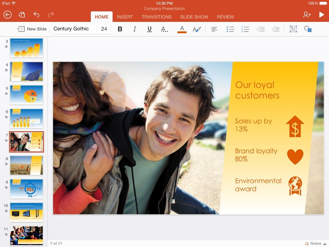 Novo Microsoft Office para iPad