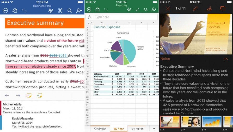 Novo Microsoft Office para iPhone