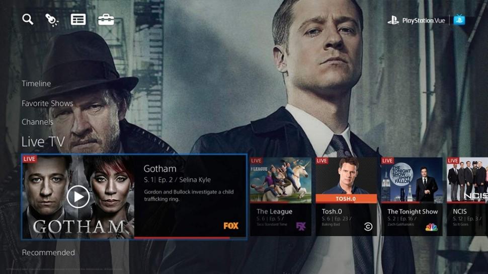 PlayStation Vue Gotham