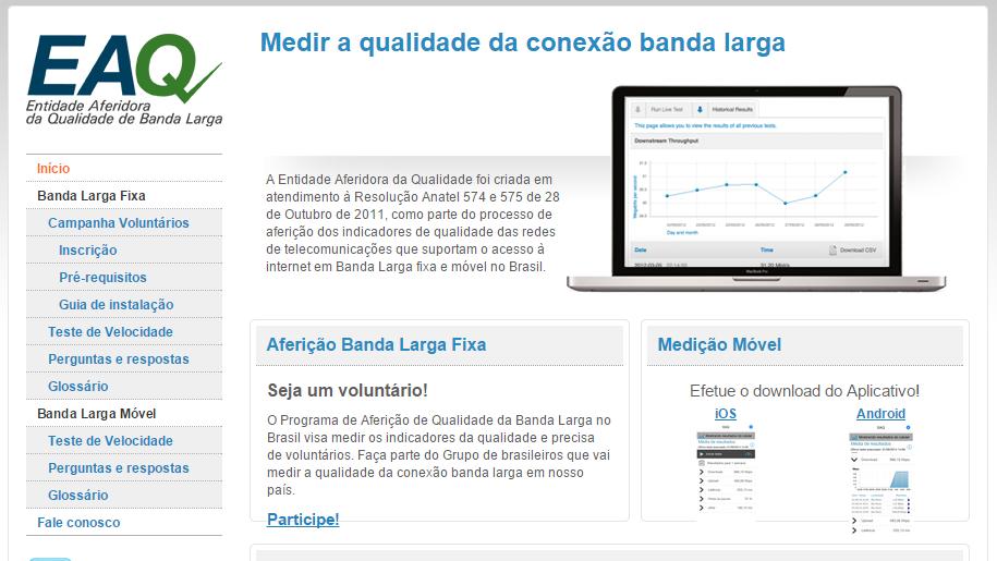 Site EAQ da Anatel