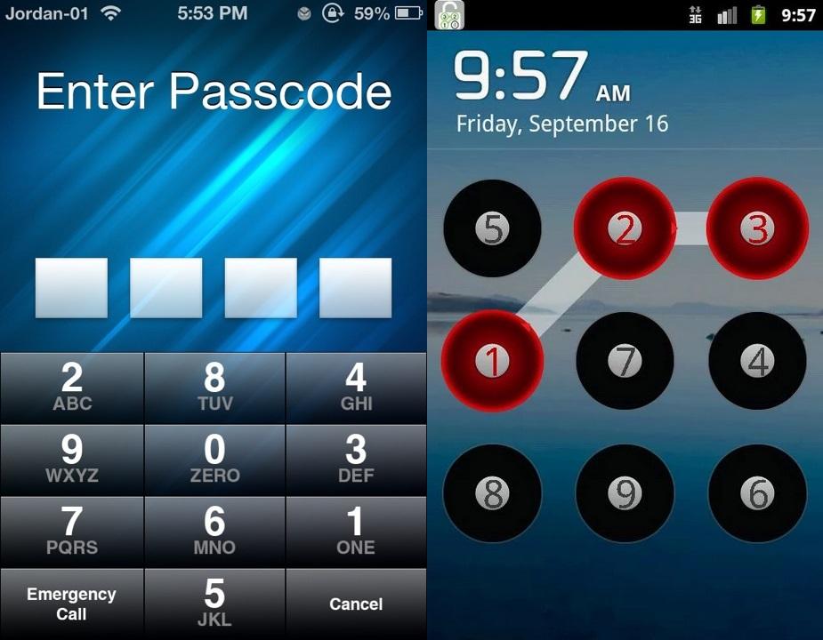 iOS e Android embaralham teclado numérico