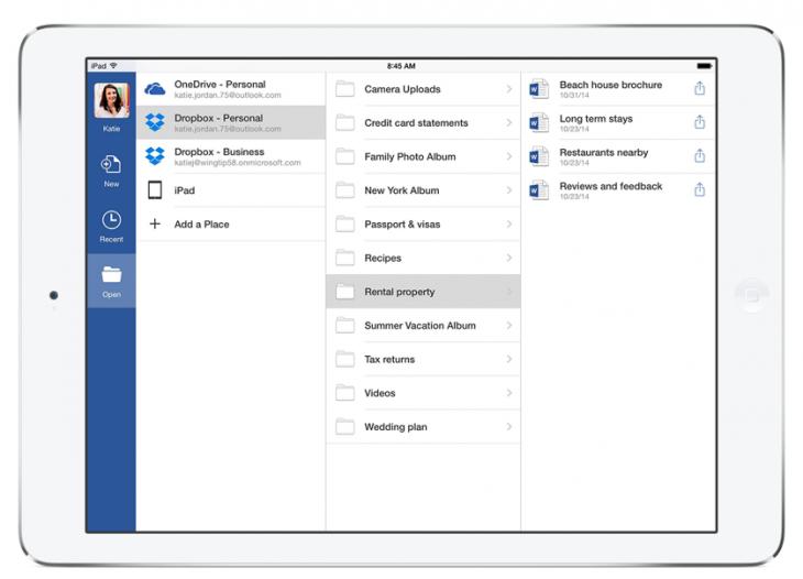 Integração entre Office e Dropbox
