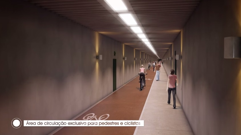 Túnel submarino entre Guarujá e Santos