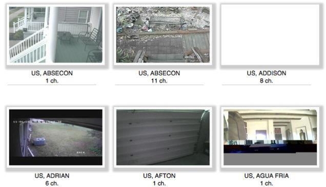 Vídeos exibidos pelo Insecam